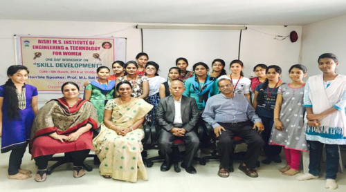 One Day workshop on skill Development in Rishi M.S Institute Of Engineering & Technology